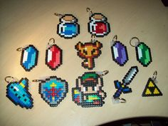 Legend of Zelda Keyrings Hama Perler beads. £2.50, via Etsy.