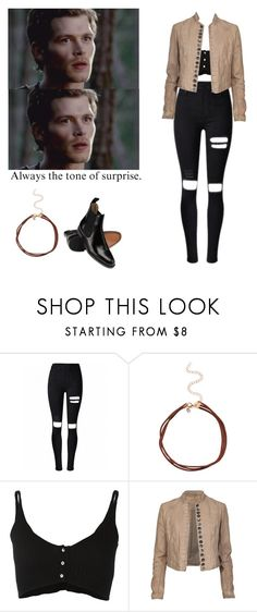 """""""Klaus Mikaelson - The originals"""" by shadyannon ❤ liked on Polyvore featuring Forte Forte, AllSaints and Melissa"""