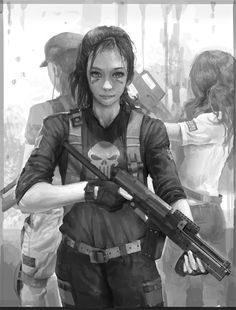 Future War, Urban Style, Girl with Gun, Military, Dystopia, Girl Warrior, Anti-Utopia, Soldier by ~molybdenumgp03 on deviantART #character