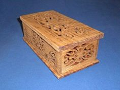 Four Corner Box by huebysscrollsawart on Etsy, $35.00