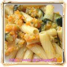 Rigatoni con soffritto e zucchine