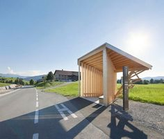 architectural photographers hufton+crow have recently visited krumbach, austria, to document the seven recently completely and disparate bus shelters. Urban Furniture, Street Furniture, Furniture Plans, Contemporary Architecture, Architecture Design, Bus Stop Design, Bus Art, Bus Shelters, Shelter Design