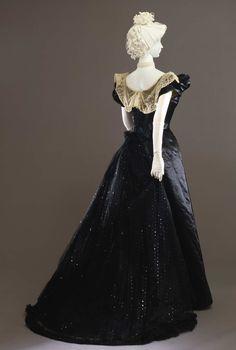Worth evening dress ca. 1897-99 From the Galleria del Costume di Palazzo Pitti via Europeana Fashion