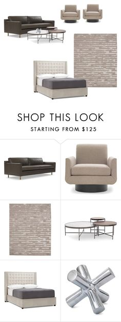 """""""Living Room #3"""" by andrewterrat on Polyvore featuring interior, interiors, interior design, home, home decor, interior decorating, Mitchell Gold + Bob Williams and living room"""