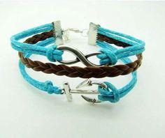 The ancient silver infinity bracelets anchor bracelet by Carlydiy, $3.99