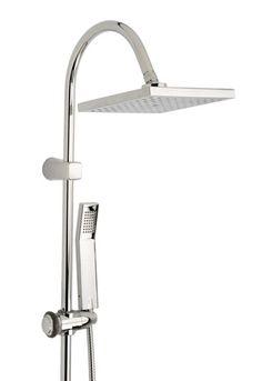 Combinado de baño-ducha termostático, en cromo, con rociador cuadrado de 20cm - Detalle