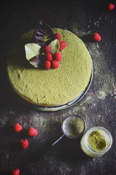 matcha chocolate mousse cake