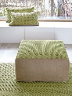 Exquisite Espacio Raw collection of furnishings from GAN Rugs.