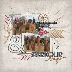 Parkour Boys #digital #scrapbook layout using products from DesignerDigitals.com #shopDesignerDigitals