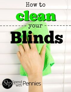 How to Clean Your Blinds Love it? Pin it to SAVE it for later! Follow Spend With Pennies on Pinterest for more great tips, ideas and recipes! Do you have any of your own great blind cleaning tips?  Blinds are a convenient and attractive way to block out the sun. They allow you privacy in your living room without concern for what the neighbors think. They are adjustable so that they can give you JUST ENOUGH light. They are  {Read More}