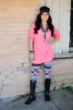 aztec leggings <3 I want this whole outfit