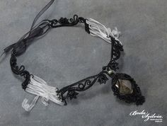 Bride of Frankenstein  OOAK wire wrapped necklace by bodaszilvia, $125.00