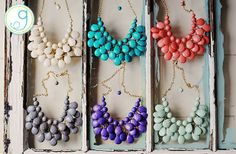 This necklace is gorgeous. I think i need every color at this price!  GroopDealz | Beaded Teardrop Necklace - 6 Colors!