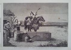 1866 PRINT THE ROAD TO GIBRALTAR FROM SAN ROQUE, by R ANSDELL,A.R.A