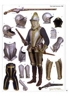 Tudor light horseman 1588