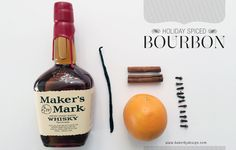 Homemade Holiday Spiced Bourbon - bakerbydesign.com
