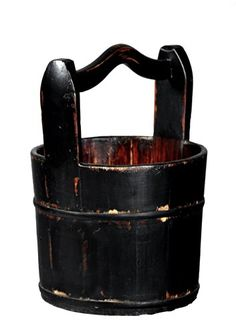 Antique Revival CrestedHandle Wooden Water Bucket Black *** You can find out more details at the link of the image.