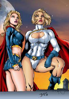 Supergirl & Power Girl