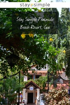 Only minutes away from Calangute beach in Goa the Stay Simple Peninsula Beach Resort is the place to be! Travel Destinations In India, Mysore, Travel And Leisure, Goa, Beach Resorts, Traveling By Yourself, Vacation, House Styles, World