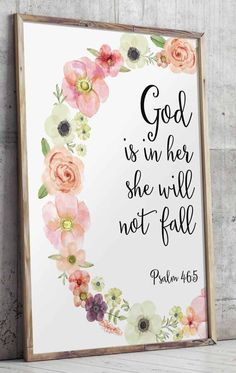 Psalm 46 5 Printable Wall Decor Bible verses God i Bible Quotes, Bible Verses, Scriptures, Art Quotes, Canvas Quotes, Prayer Quotes, Tattoo Quotes, Psalm 46 5, Scripture Art