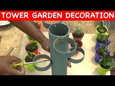 How to make Tree pot TOWER using plastic pipe (With English Subtitles) Petunia Hanging Baskets, Plants For Hanging Baskets, Container Gardening Vegetables, Succulents In Containers, Container Flowers, Container Plants, Vegetable Gardening, Giant Paper Flowers, Plastic Flowers