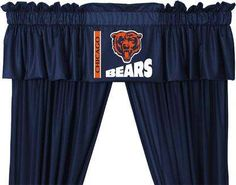 Old post. Valance not available but link to website, search Chicago Bears, see decor items
