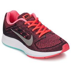 Chaussures de running Nike ZOOM STRUCTURE 18 Corail / Gris prix promo  Baskets Femme Nike Spartoo