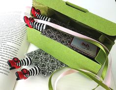 Set of 20 bookmarks Wicked  witch fashion high heels by funnygifts, $390.00