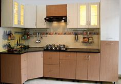 Check out simple kitchen design ideas to make your home stylish. Here at The Architecture Designs, browse all simple kitchen designs to make the kitchen look great. Kitchen Cupboard Designs, Small Kitchen Cabinets, Kitchen Designs Photos, Small Space Kitchen, Small Spaces, Closed Kitchen, Oak Cabinets, Kitchen Island, Simple Kitchen Design
