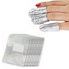 Bhbuy 100 pcs Foil Nail Art Soak Off Acrylic Gel Polish Nail Wraps Remover Clean Aluminum *** Find out more about the great product at the image link.