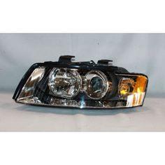 TYC 20-6476-00 | 2002 Audi A4 Chrome/Clear Halo Headlights for Coupe/Sedan/Hatchback/Wagon