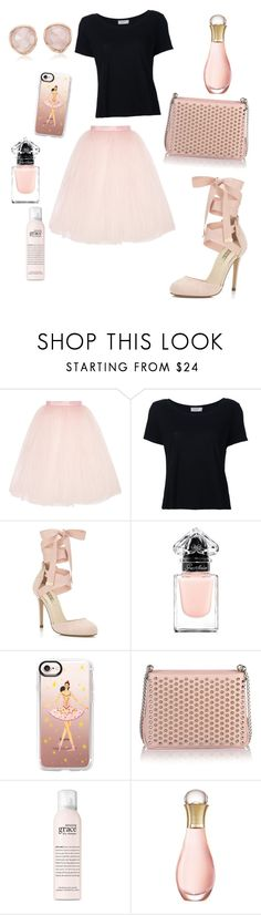 """ballerina"" by angelina-vanessa ❤ liked on Polyvore featuring Ballet Beautiful, Frame, Miss Selfridge, Guerlain, Casetify, Christian Louboutin, philosophy, Christian Dior and Monica Vinader"