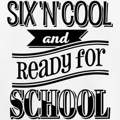 Six, cool and ready for school 1C - Kinder Premium T-Shirt