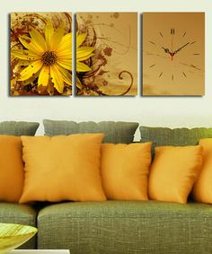 Take a look at this Sunflower Canvas Wall Clock by Asir Limited on #zulily today!