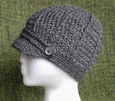 Crochet Newsboy Style Hat  Womens and Teen by RachelsCozyCrochet