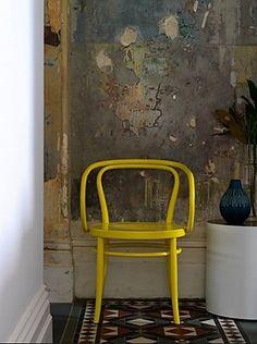 Yellow Thonet Chair
