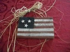 Rustic Wood Painted Flag Wall Hanging by TKSPRINGTHINGS for $8.95