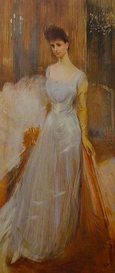 Paul-César Helleu, Portrait de la comtesse Greffulhe, 1891. Pastel sec sur papier. Collection particulière.
