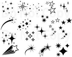 Stars SVG Bundle Star Vector Shooting Stars svg file for cricut Outer space Design Elements clip art Star Silhouette png dxf esp Mini Tattoos, Small Star Tattoos, Best Star Tattoos, Tattoos Skull, Animal Tattoos, Sleeve Tattoos, Star Tattoo Designs, Star Designs, Tattoo Estrela