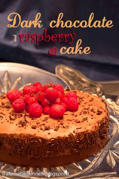 Dark #chocolatecake with raspberry and ginger http://trafornelliepennelli.blogspot.it/2014/02/valentines-day-re-caketorta-al.html