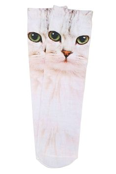 Cool Cat Crew Socks