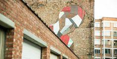 Loving this # streetart by Stefaan De Croock - murals by recycling old doors #Belgiumstreetart