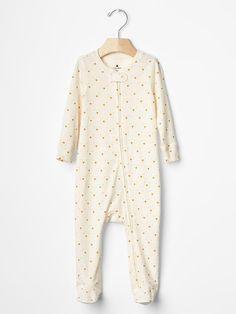 Boy or Girl GAP One-piece Sleepwear Long sleeve Footed Orange Cotton 0-3 3-6 6-9 #babyGap #DressyEverydayHoliday