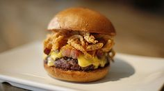 The Umami Burger Manly Burger - The burger you should only eat once a year.