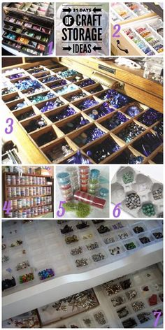 'Beads – Craft Storage Ideas...!' (via Over the Moon)