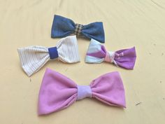 DIY How To Make Hair Bows + Bow Tie