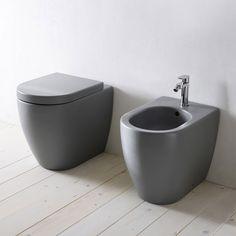 Colored designer WC & bidet for bathroom SMILE