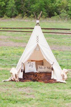 I loved the teepee from my wedding! #leetobe41616