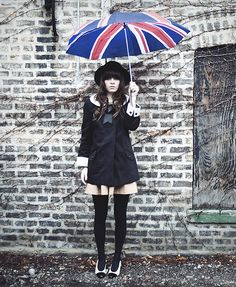 Http://Www.Jaglever.Com, Union Jack Umbrella From London, H Hat, Topshop Coat With Satin Collar + Sleeves