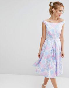 ASOS | ASOS SALON Beautiful Jacquard Prom Midi Dress at ASOS
